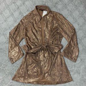 Mishca cardigan jacket tie front snake skin print